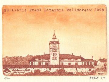 'Ex-libris Premi Literari Valldoreix 2008' de l'artista valldoreixenc Adolf
